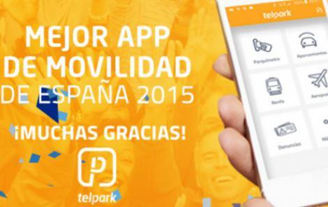 Telpark triada com millor App de mobilitat d'Espanya 2015